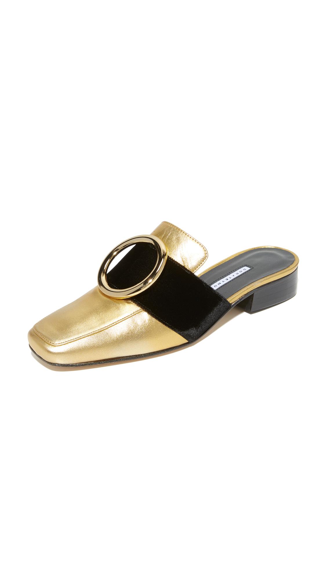 Dorateymur Petrol Mule Slides - Gold/Black