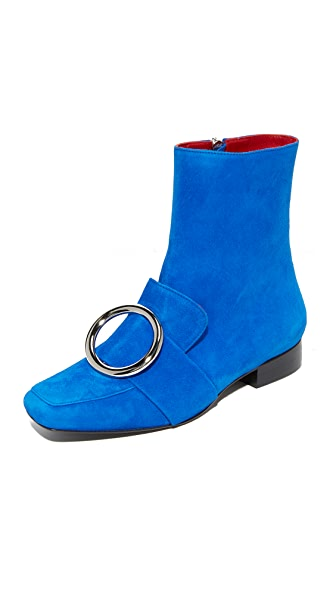 Dorateymur Biturbo Buckle Booties - Blue