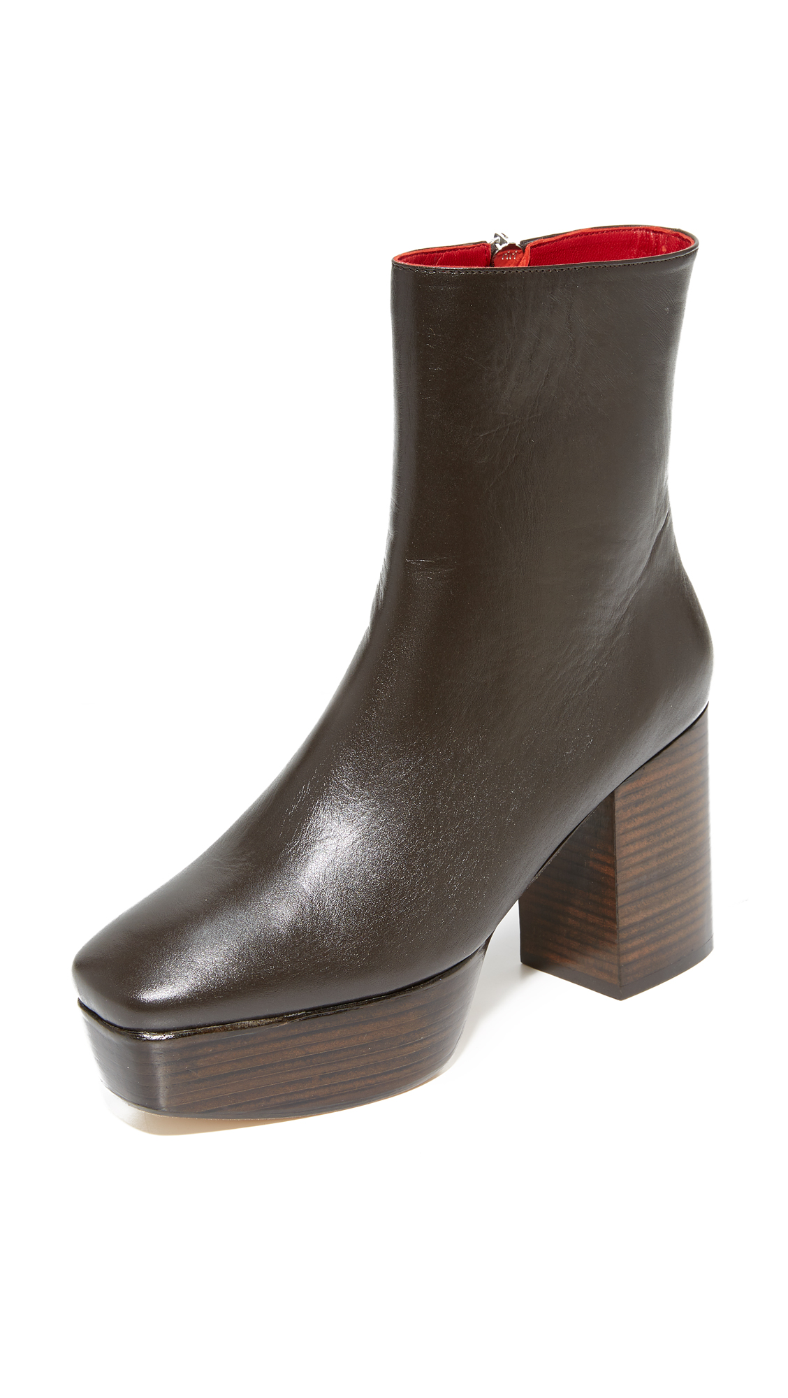Dorateymur Firebird II Platform Booties - Brown