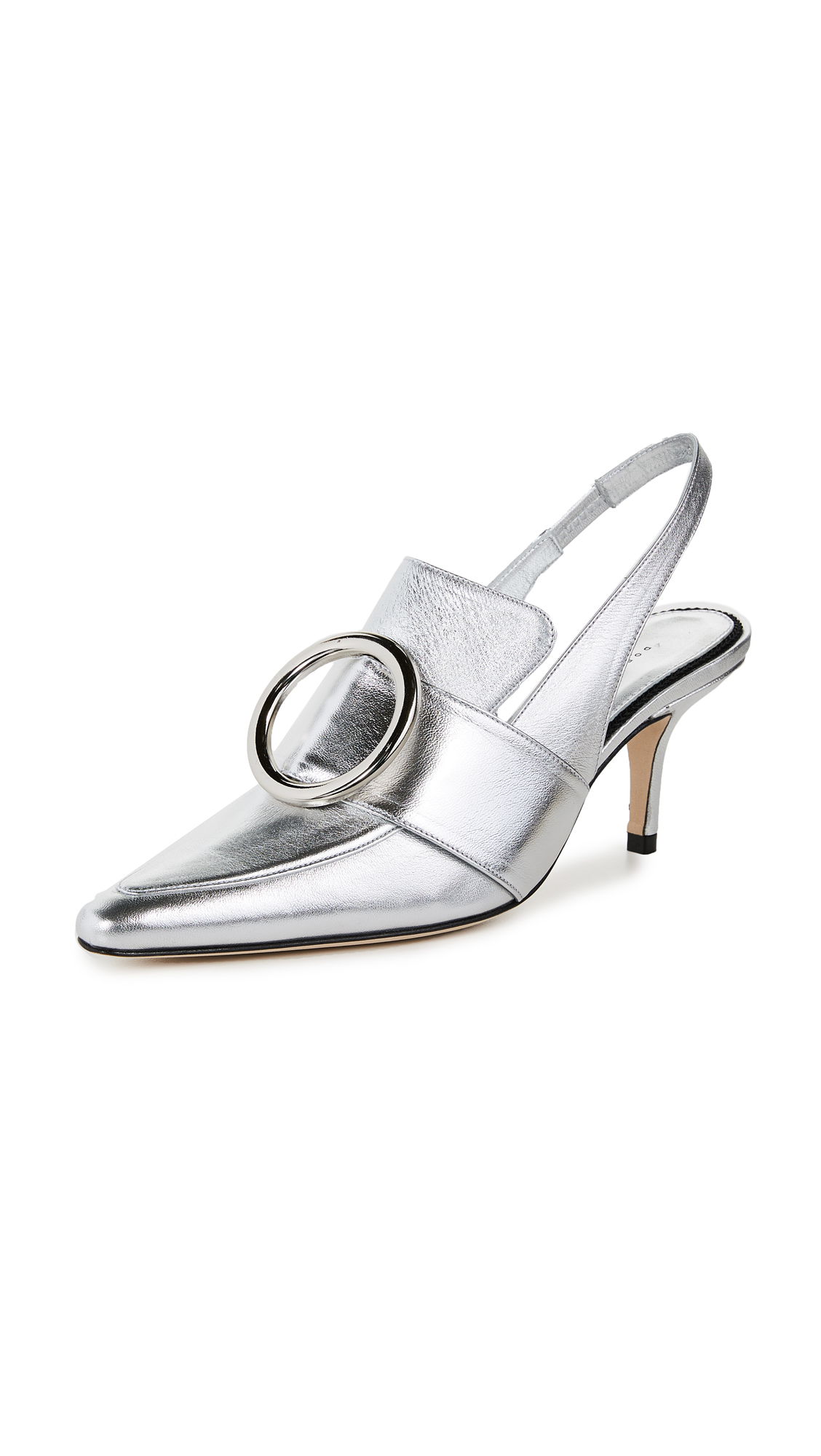 Dorateymur Eagle Slingback Pumps - Silver