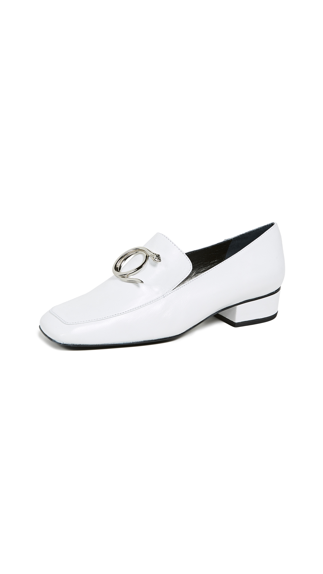 Dorateymur Han Serpent Loafers - White