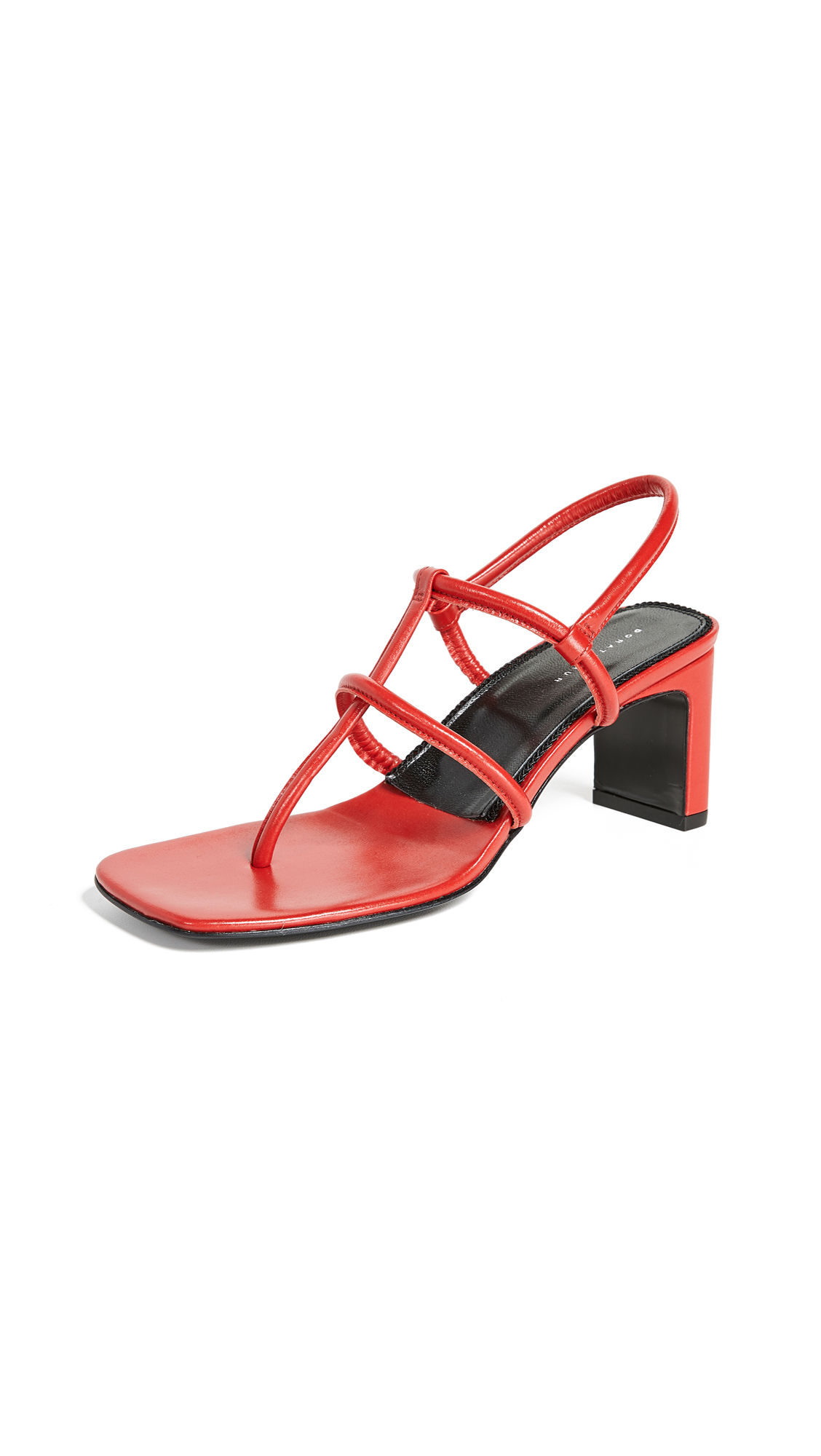 Dorateymur Thong Heeled Sandals - Red