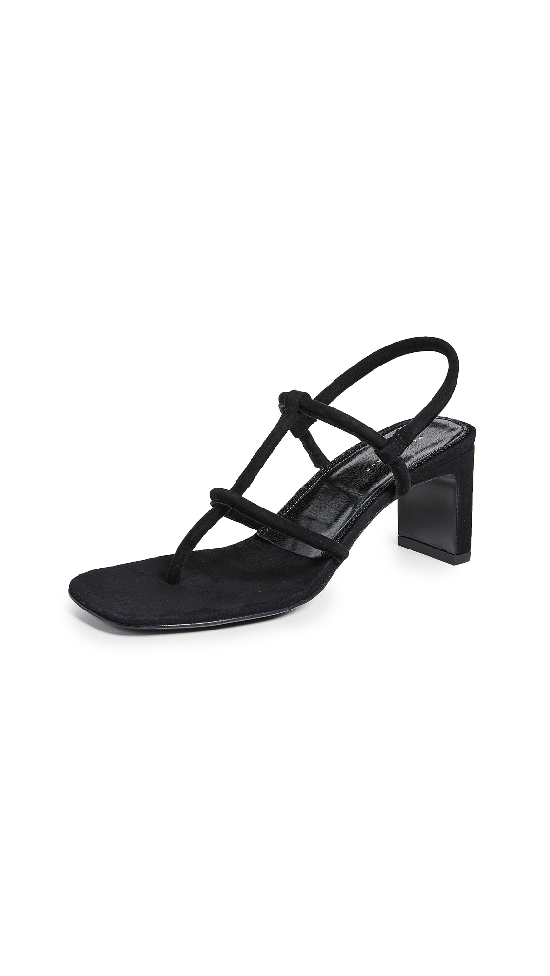 Dorateymur Thong Heeled Sandals - Black