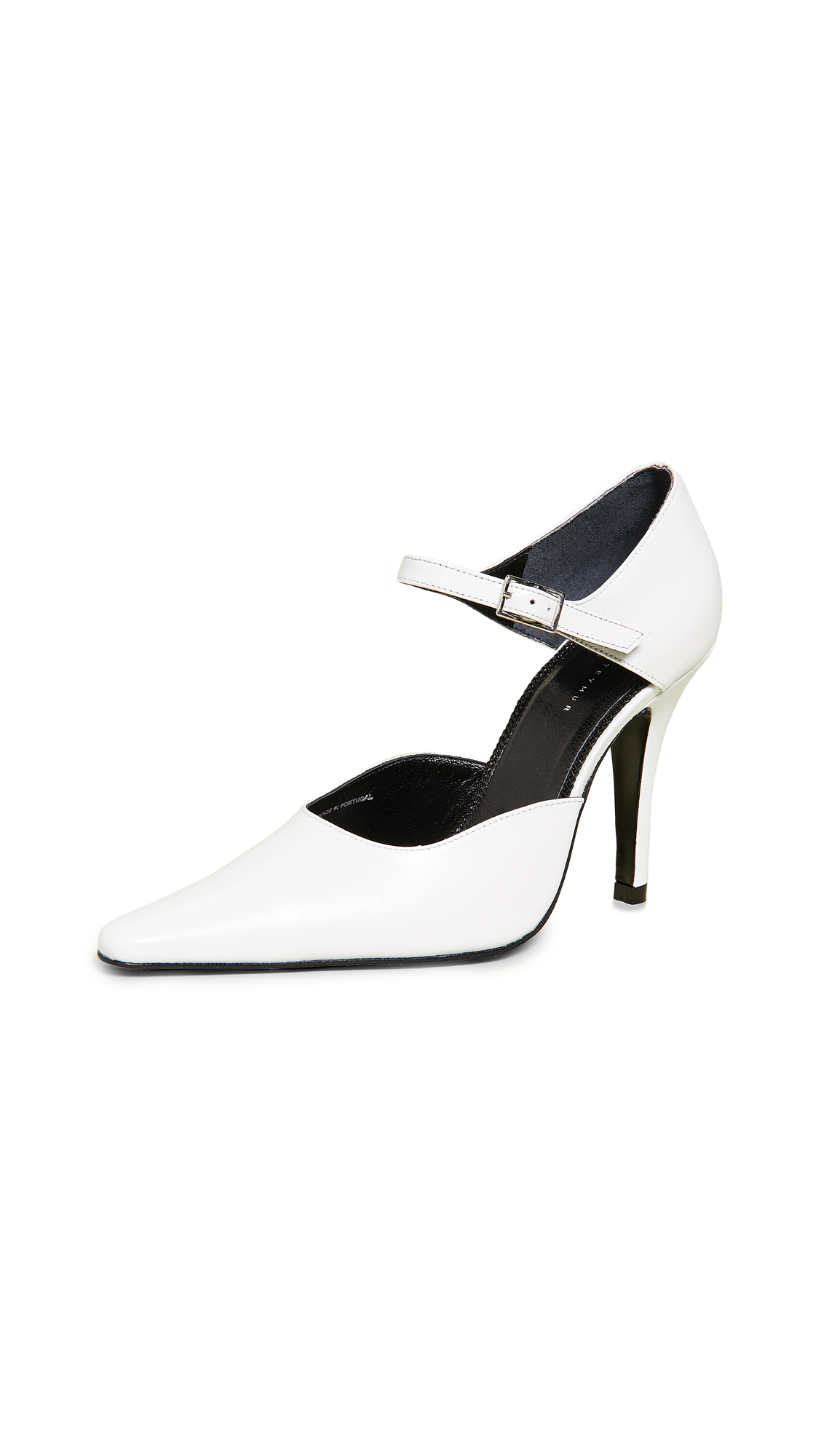 Dorateymur Groupie DOrsay Pumps - White