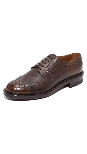 Doucal's Savino Wing Tip Lace Up Shoes