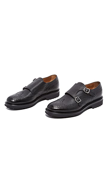 Doucal's Savino Wingtip Double Monk Strap Shoes