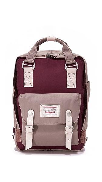 Doughnut Macaroon Backpack - Dark Purple/Dark Grey