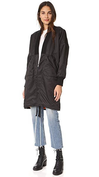 Daniel Patrick Heroine Kimono Bomber Long Polar Jacket