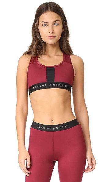 Daniel Patrick Trail Sport Bra - Scarlet/Black