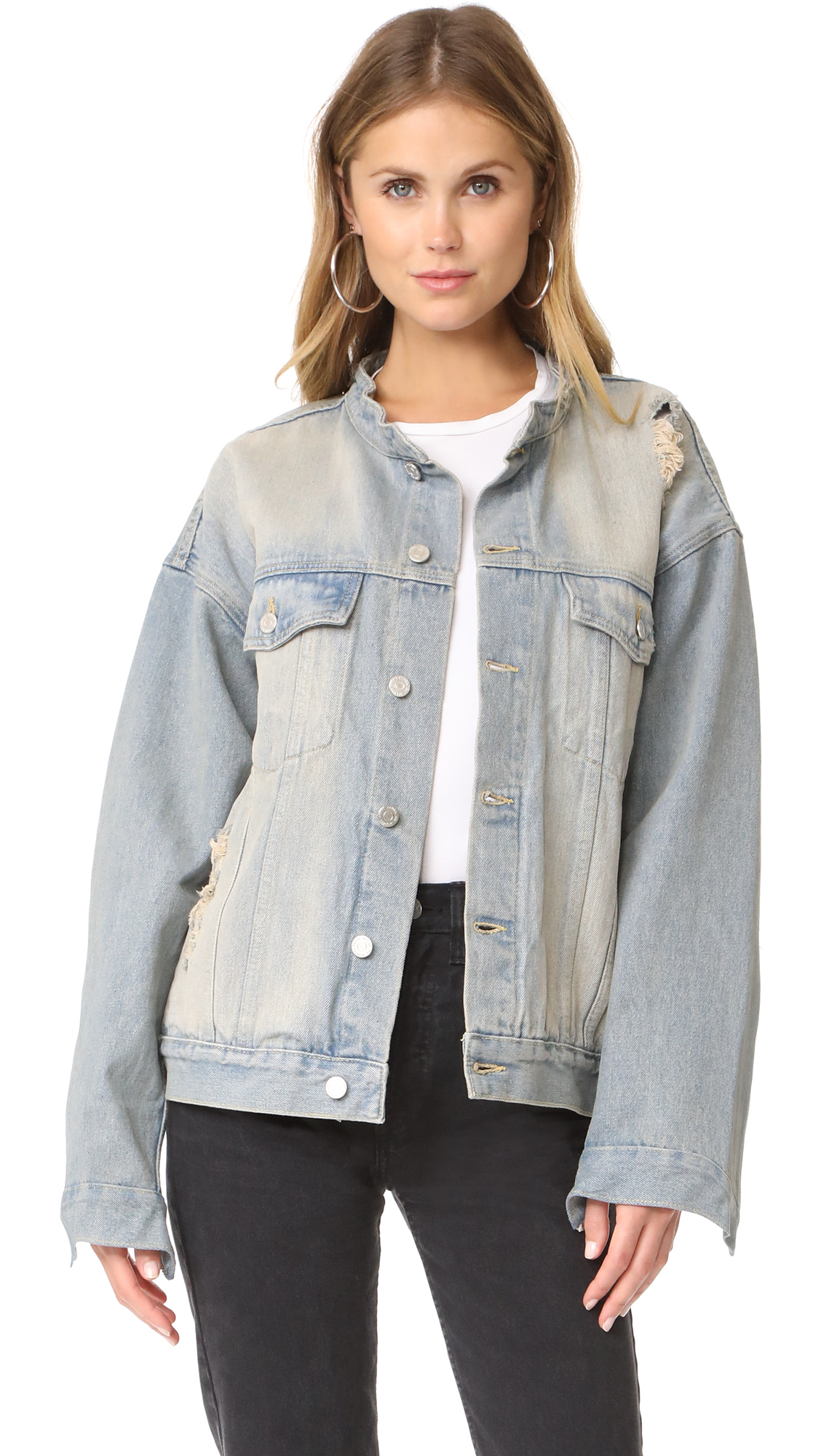 Daniel Patrick Oversized Denim Jacket - Blue Desert