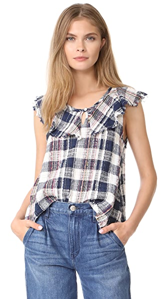dRA Hula Top - Cliffside Plaid