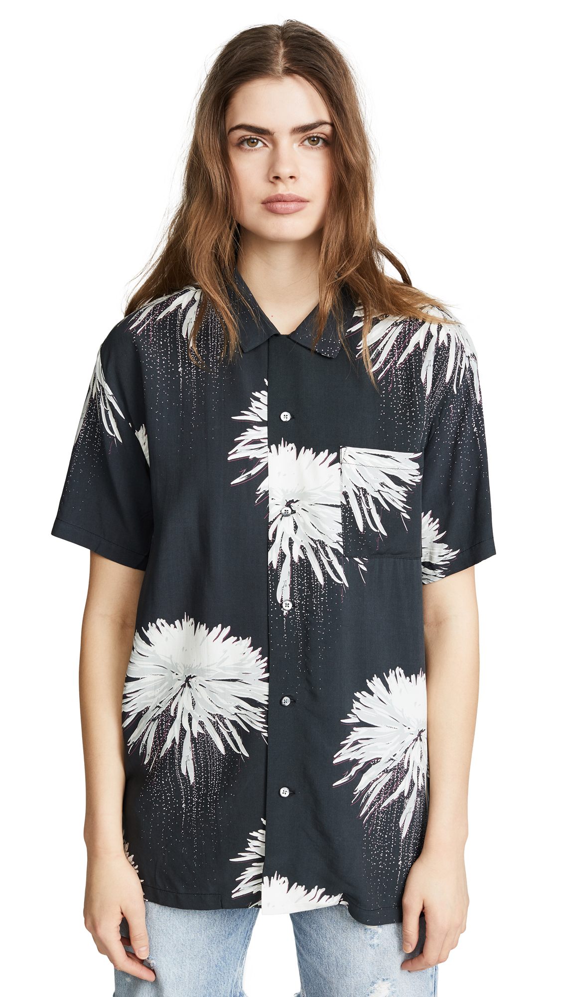 Double Rainbouu Space Junk Short Sleeve Hawaiian Shirt