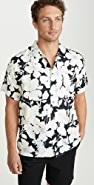 Double Rainbouu Cloud Control Print Hawaiian Shirt