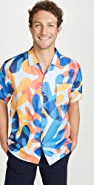 Double Rainbouu Balearic Beat Print Hawaiian Shirt