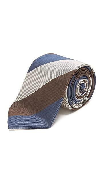 Drake's Striped Tie