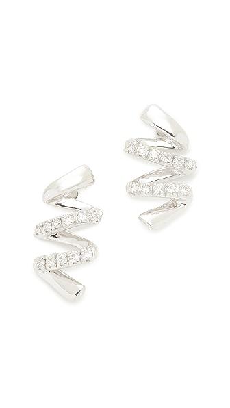 Dana Rebecca 14k White Gold Carly Brooke Earrings - White Gold/Clear