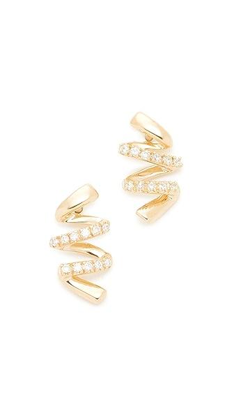 Dana Rebecca 14k Gold Carly Brooke Earrings - Gold/Clear