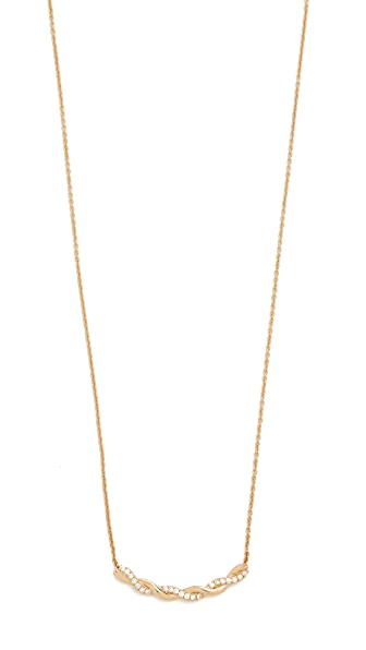 Dana Rebecca Carly Brooke Twisted Necklace - Gold/Clear