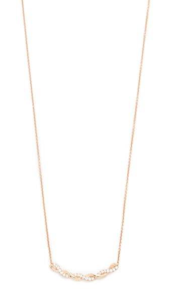Dana Rebecca 14k Gold Carly Brooke Twisted Necklace - Rose Gold/Clear