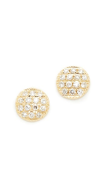 Dana Rebecca 14k Gold Lauren Joy Stud Earrings - Gold/Clear