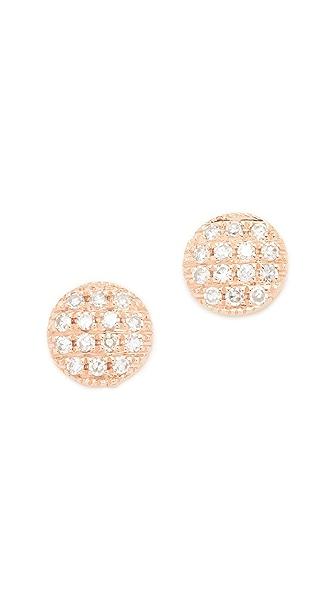 Dana Rebecca Lauren Joy Stud Earrings - Rose Gold/Clear