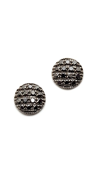 Dana Rebecca 14k gold Lauren Joy Stud Earrings - Black
