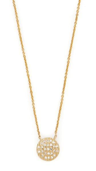 Dana Rebecca 14k Gold Lauren Medium Joy Necklace - Gold/Clear