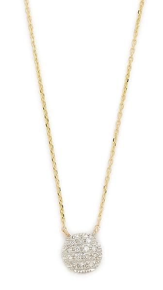 Dana Rebecca 14k Gold Lauren Joy Mini Necklace - Gold/White Gold/Clear