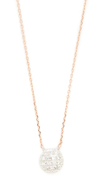 Dana Rebecca 14k Rose Gold Lauren Joy Mini Necklace - Rose Gold/White Gold/Clear