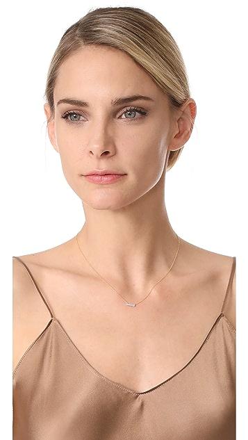 Dana Rebecca 14k Gold Sylvie Rose Bar Necklace