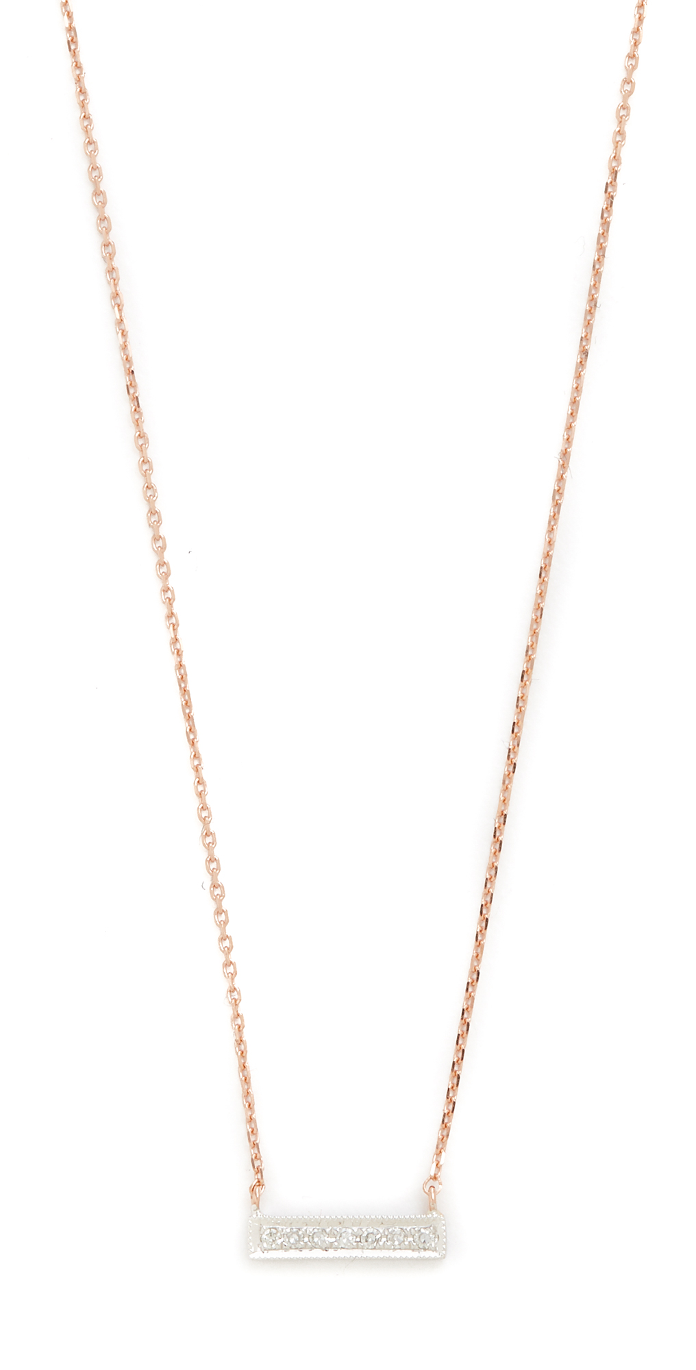 14k Rose Gold Sylvie Rose Bar Necklace Dana Rebecca