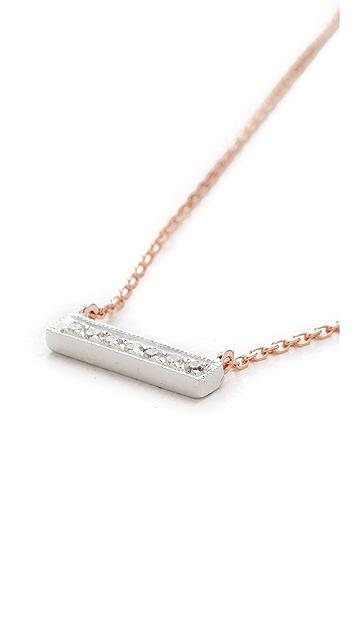 Dana Rebecca 14k Rose Gold Sylvie Rose Bar Necklace