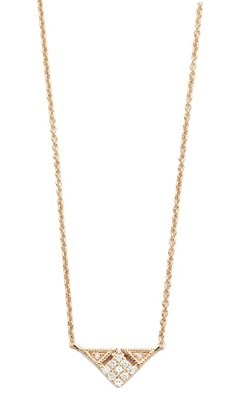 Dana Rebecca 14k Gold Emily Sarah Triangle Necklace - Gold/Clear