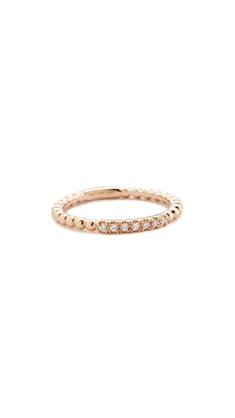 Dana Rebecca Poppy Rae Single Band Ring - Rose Gold/Clear