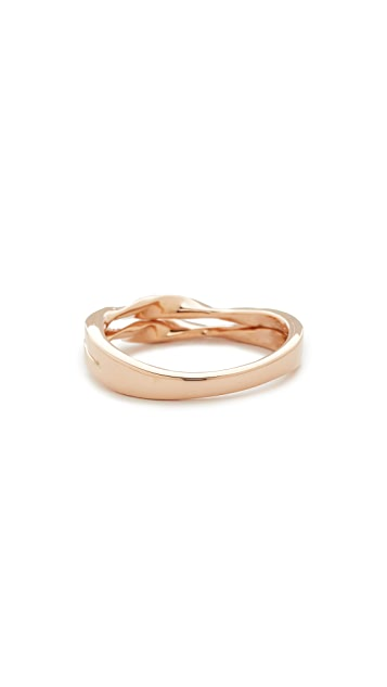 Dana Rebecca Carly Beth Double Twist Ring