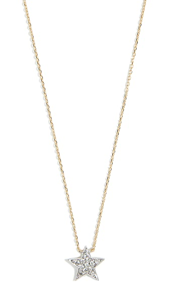 DANA REBECCA PAVE DIAMOND STAR NECKLACE