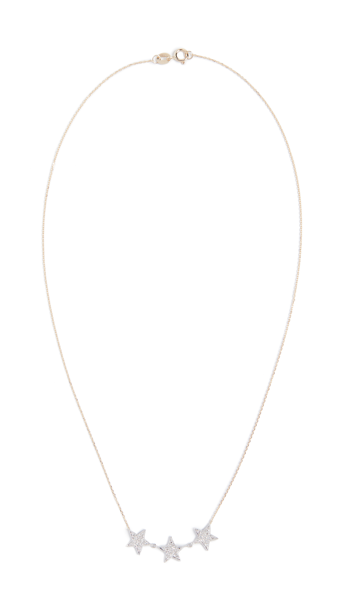 DANA REBECCA 14K GOLD 3 STAR NECKLACE