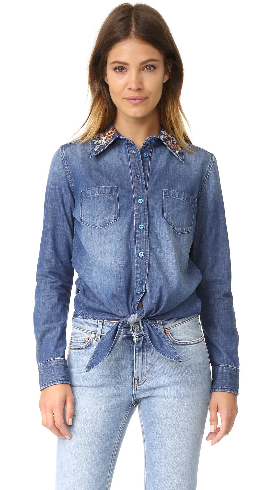 Driftwood Charlotte Shirt - Medium Chambray at Shopbop