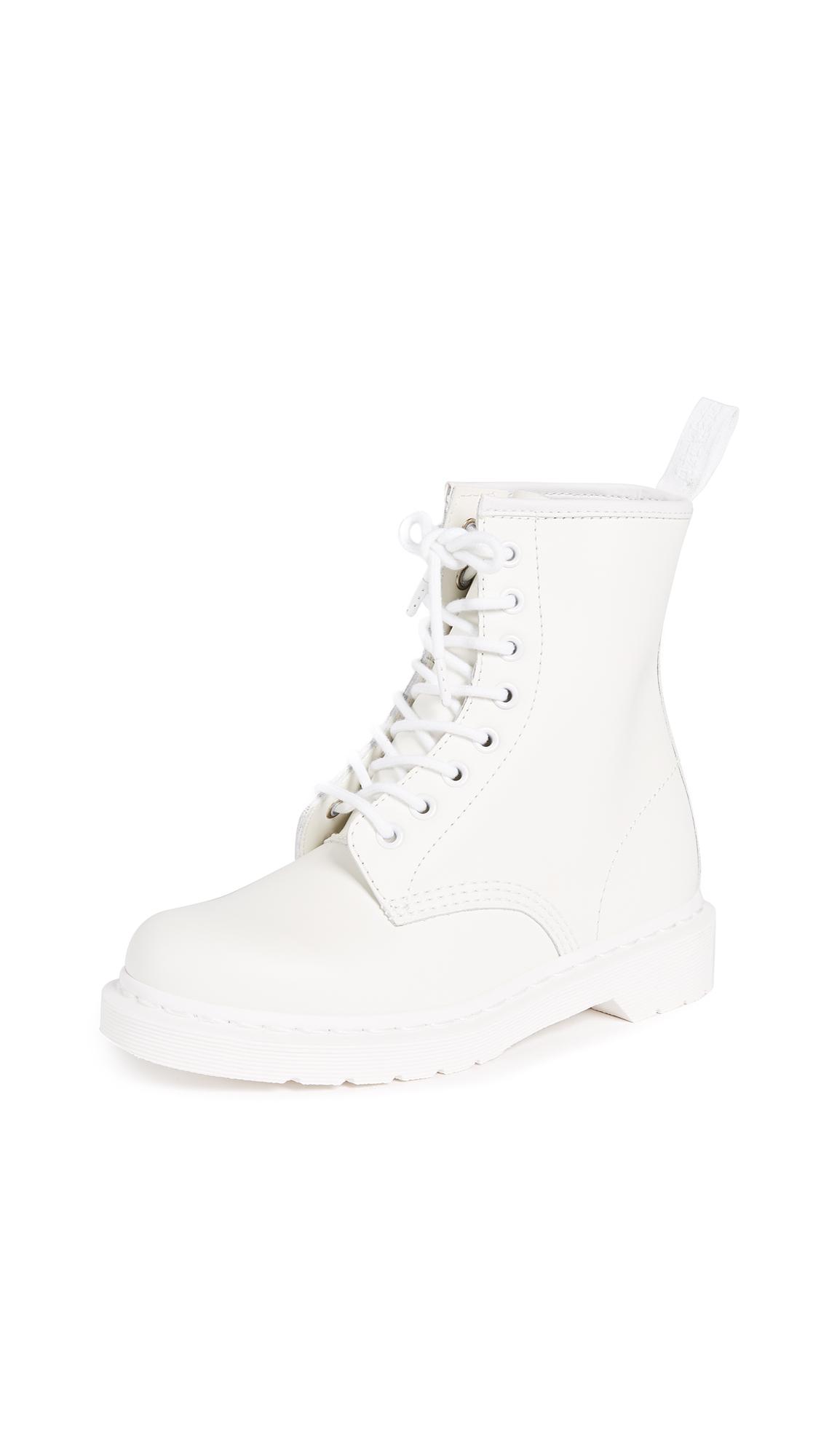 Dr. Martens 1460 Mono 8 Eye Boots - White