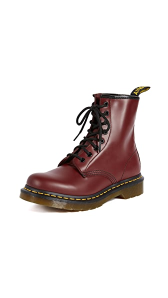 Bordeaux Smoot Brushed Leather Low Boot in Cherry Red