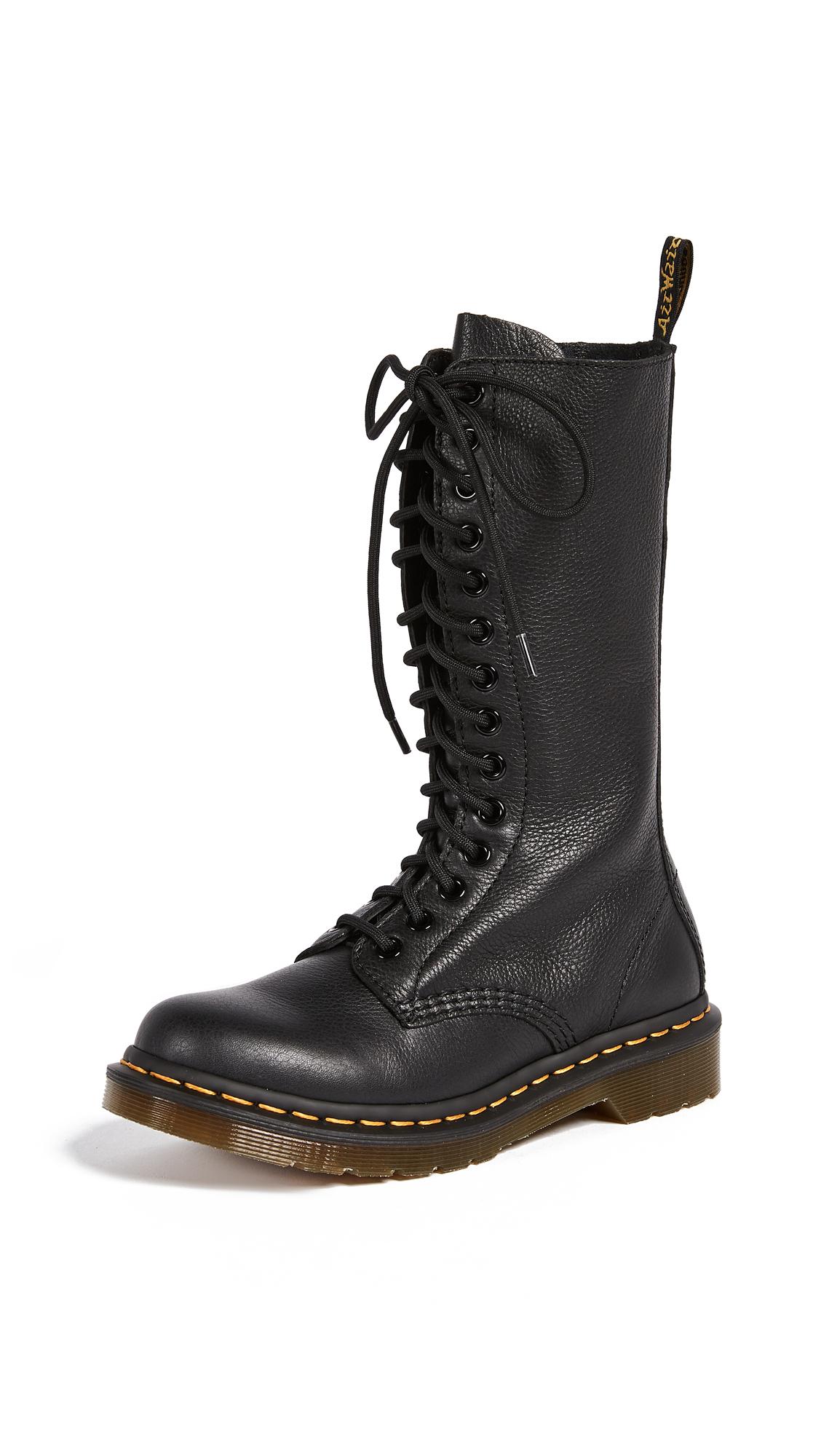 Dr. Martens 1B99 14 Eye Zip Boots - Black