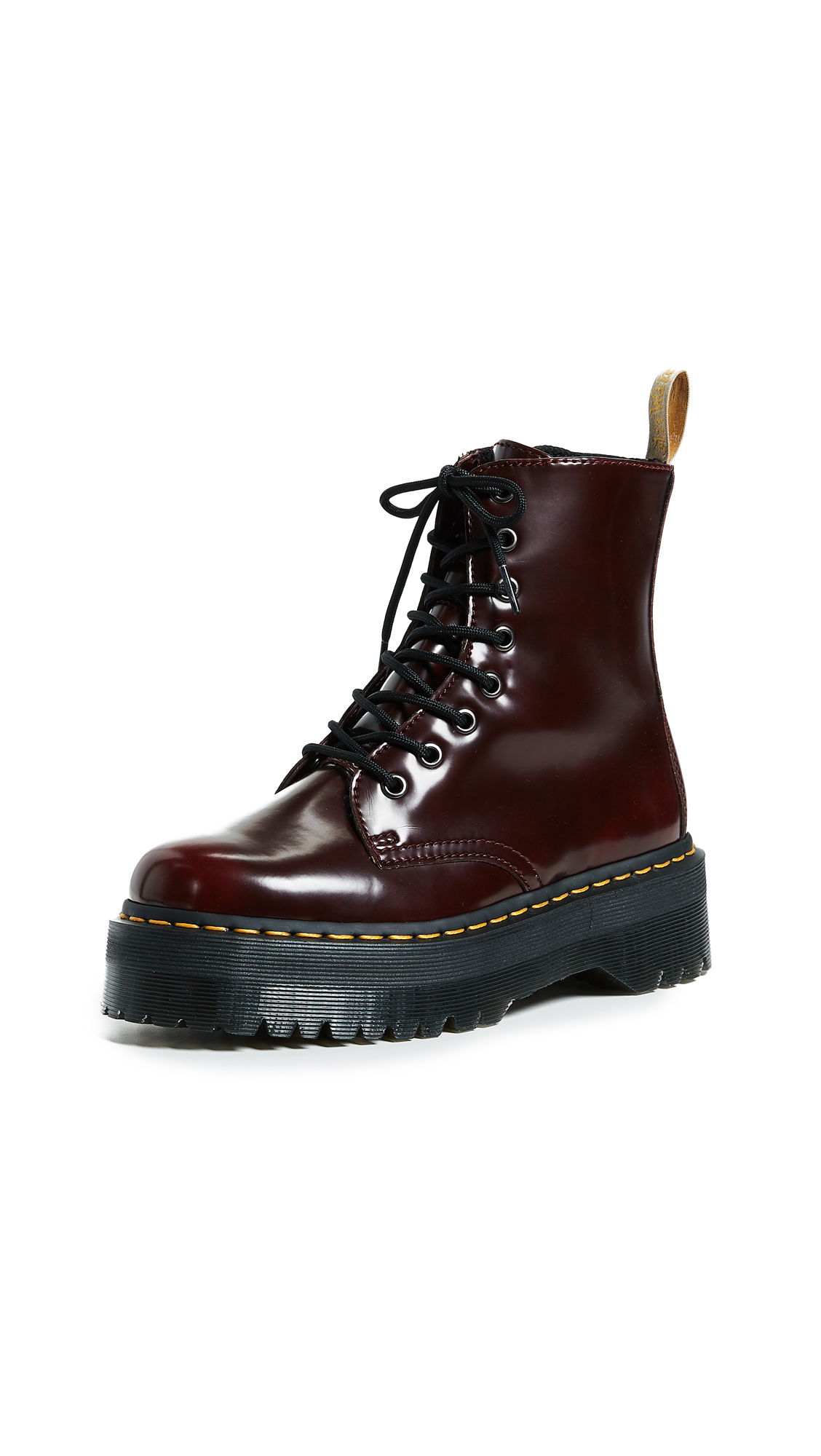 Dr. Martens V Jadon II 8 Eye Boots - Cherry Red