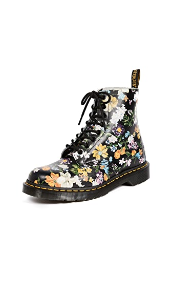 DARCY FLORAL PASCAL 8 EYE BOOTS