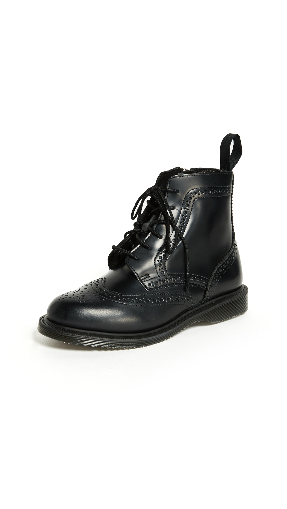 Dr. Martens Delphine 8 Eye Brogue Boots - Black