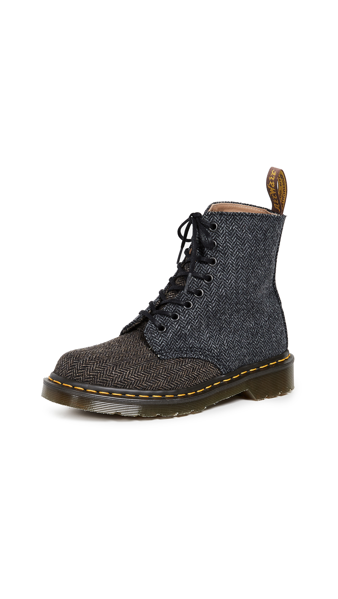 Dr. Martens 1460 Pascal 8 Eye Boots - Grey/Brown