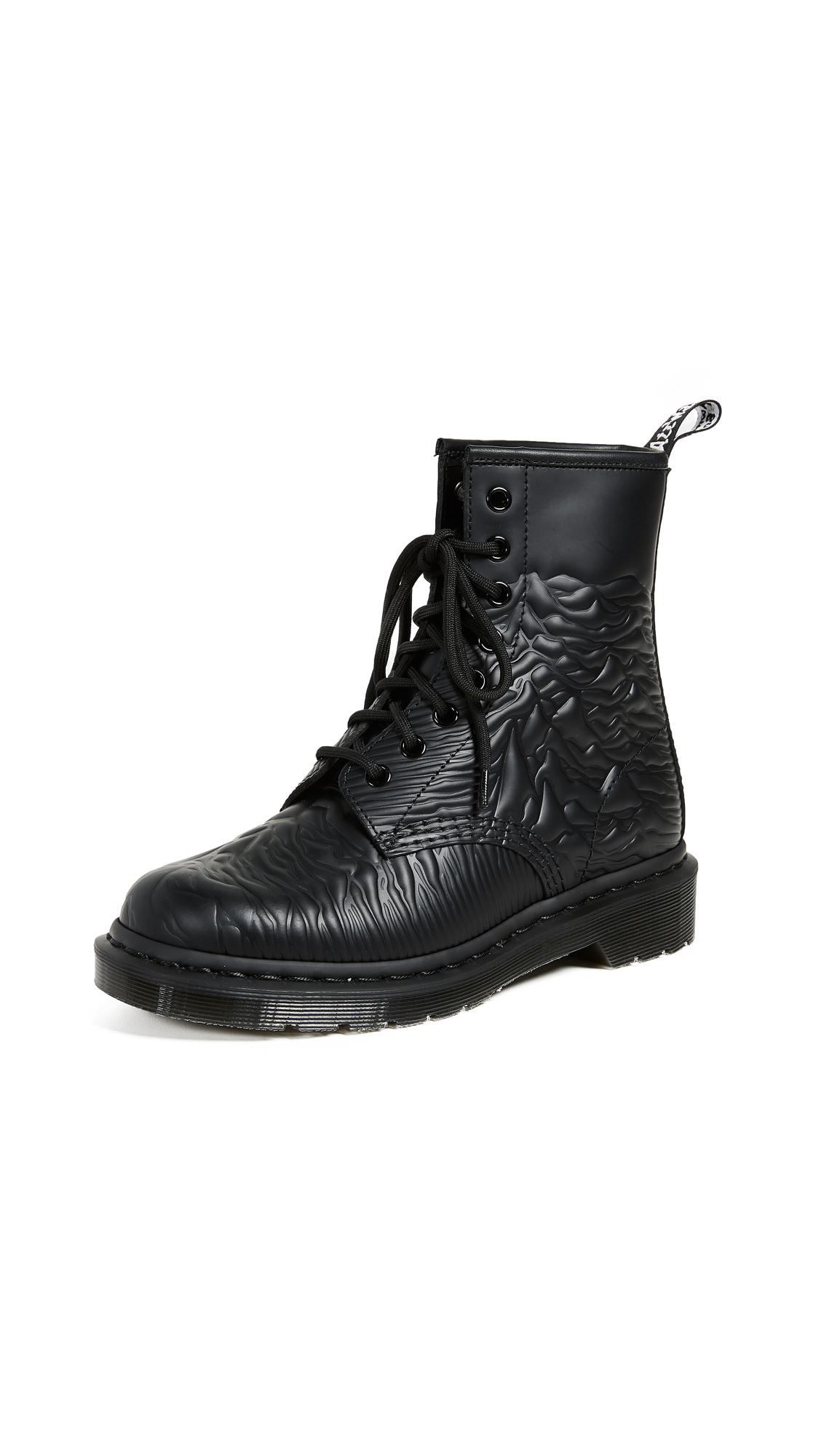 Dr. Martens x Joy Division 1460 Emboss 8 Eye Boots - Black
