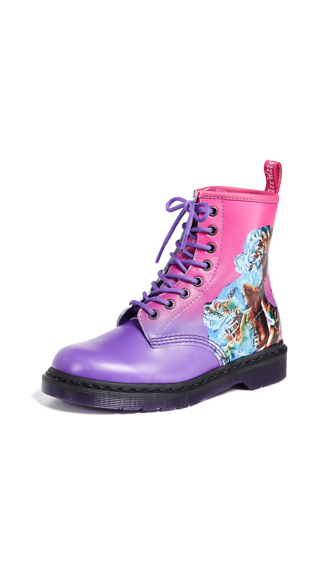 Dr. Martens 1460 8 Eye Technique Boots - Pink/Purple