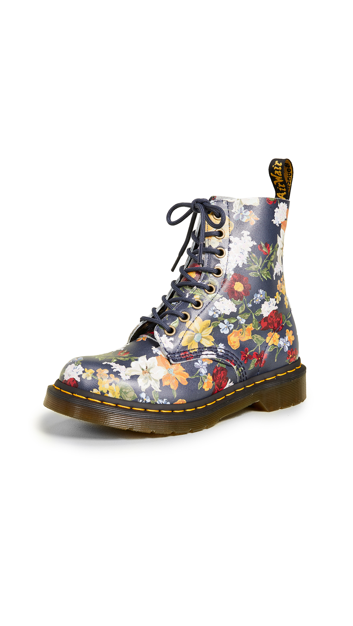 Dr. Martens 1460 Pascal 8 Eye Boots - Navy Multi