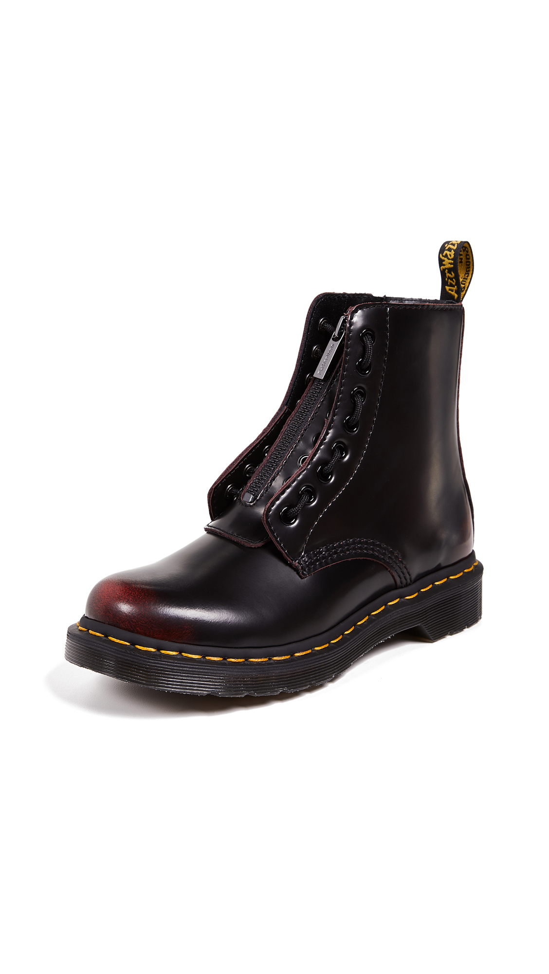 Dr. Martens 1460 Pascal Front Zip 8 Eye Boots - Cherry Red