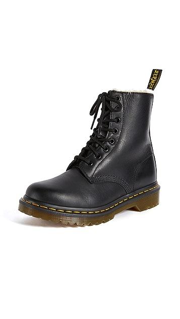 Photo of  Dr. Martens 1460 Serena 8 Eye Sherpa Boots- shop Dr. Martens Boots, Flat online sales
